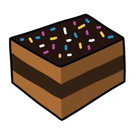 Cartoon cake Stock Vector - 15356753