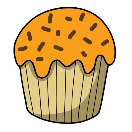 Cartoon cake Stock Vector - 15356752
