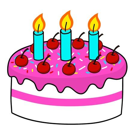torta panna: Cartoon cake mano Disegno vettoriale Vettoriali