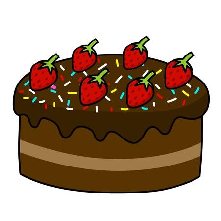 fairycake: Cartoon cake hand drawing   Vector