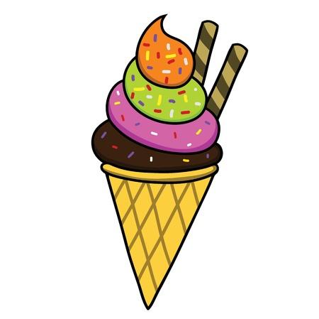 whipped: Ice cream  Illustration