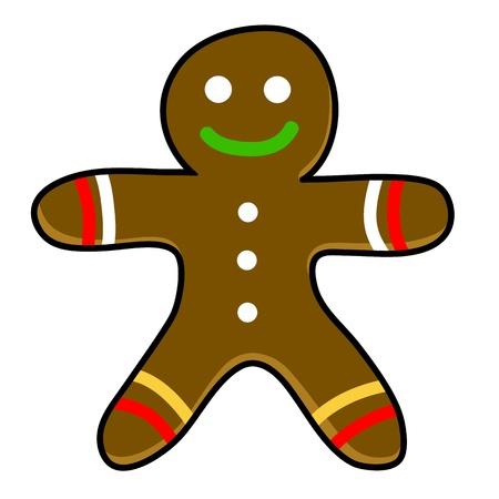 Gingerbread cookies cartoon  Stock Vector - 15559109