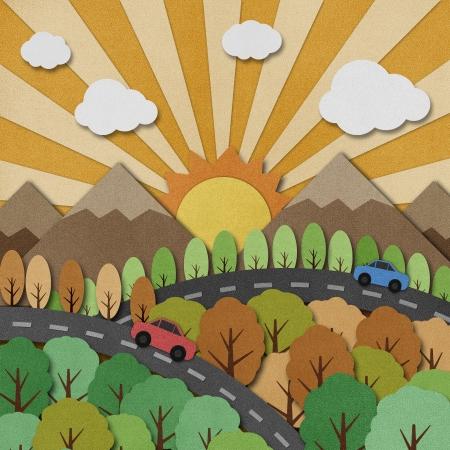 Nature view recycled papercraft Background Reklamní fotografie