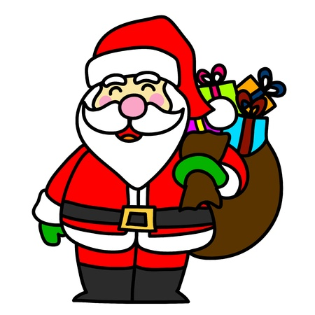 kris kringle: Cartoon Santa Claus  Illustration