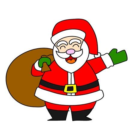 Cartoon Santa Claus  Иллюстрация
