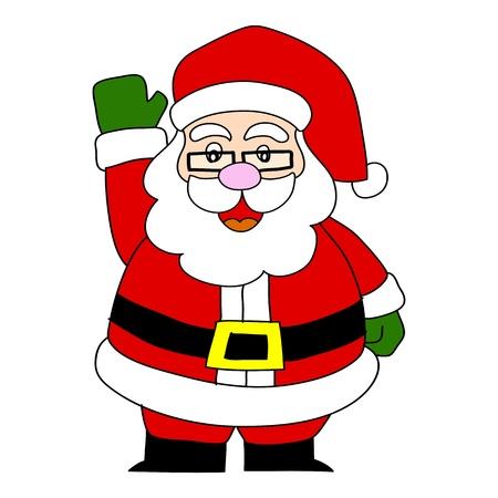 papa noel: Cartoon Santa Claus  Illustration