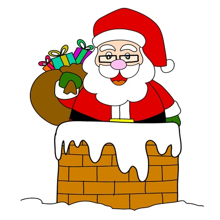 saint nicholas: Cartoon Santa Claus  Illustration