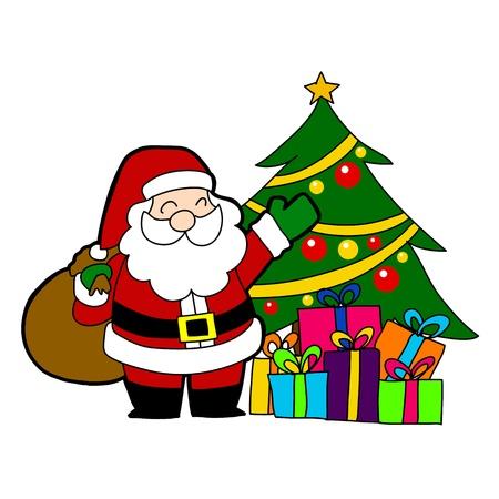 klaus: Cartoon Santa Claus  Illustration