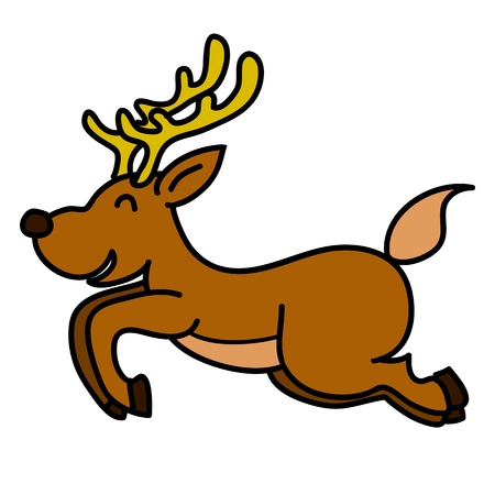 Reindeer hand writing cartoon Stock Vector - 15688495
