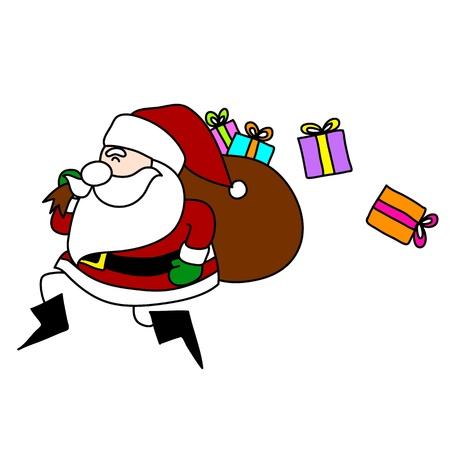 Cartoon Santa Claus hand writing. Stock Vector - 15688496