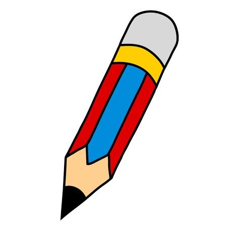 disegni a matita: Cartoon matita scrittura a mano Vettoriali