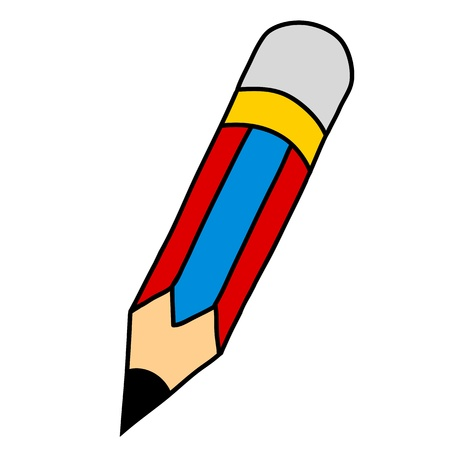 crayon: Cartoon pencil hand writing