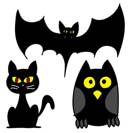 Halloween character hand writing cartoon  Vector