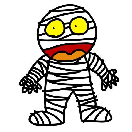 Halloween character hand writing cartoon Stock Vector - 15764749