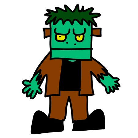 Halloween character hand writing cartoon Stock Vector - 15764756