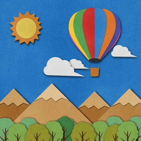 Balloon made from recycled paper background. Stock Photo - 15862265