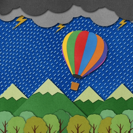 Balloon made from recycled paper background. Stock Photo - 15862274