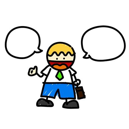 charactor: Hand draw charactor cartoon.