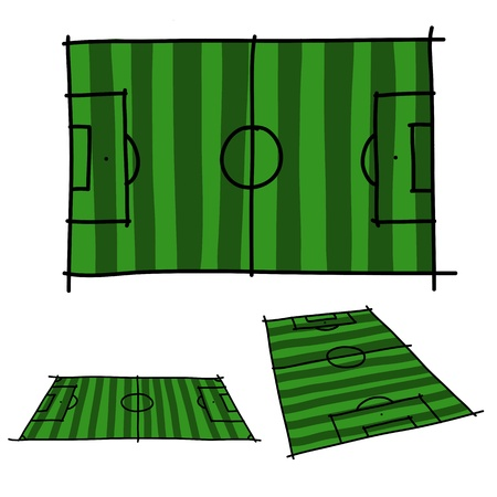 Hand draw soccer field  Vector