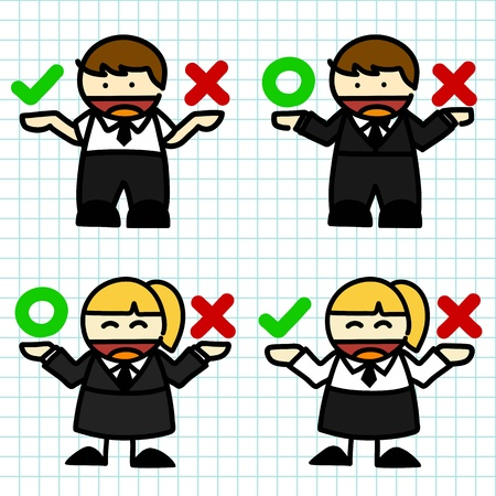Business man and woman cartoon. vector Vector