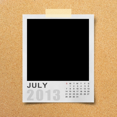 Calendar 2013 on blank photo background. photo