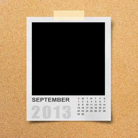 Calendar 2013 on blank photo background. Stock Photo - 16138703