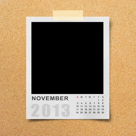 Calendar 2013 on blank photo background. Stock Photo - 16138706