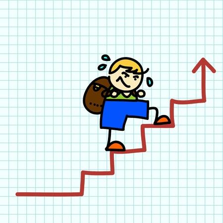 Business hand writing cartoon . vector Stock Vector - 16138666