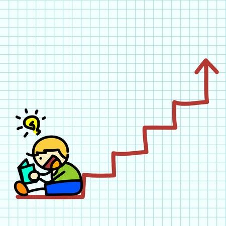 Business hand writing cartoon . vector Stock Vector - 16138662