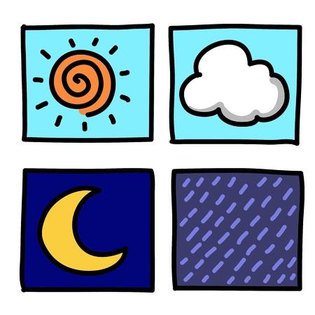 Weather Hand draw cartoon.Illustrator Stock Vector - 16138665