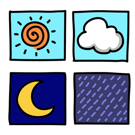 Weather Hand draw cartoon.Illustrator Stock Vector - 16138665