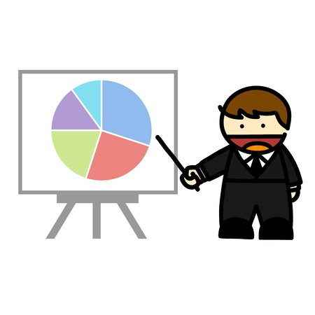 Business people and  business graph cartoon. Illustration Stock Vector - 16251195