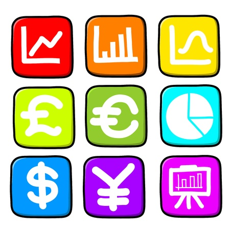 Hand draw icon set.Illustration Stock Vector - 16251206