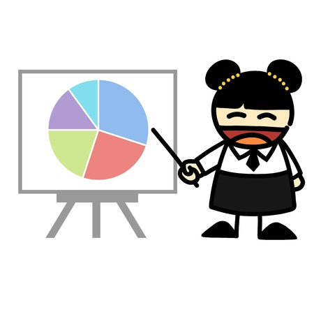 Hand-draw business people cartoon Illustration Stock Vector - 16353072