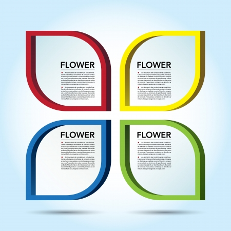Abstract 3D Flower speech bubble background.  Vector