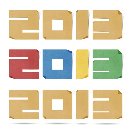papercraft: New Year 2013  origami recycled papercraft .