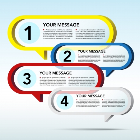 Abstract 3D speech bubble background. Stock Photo - 16637791