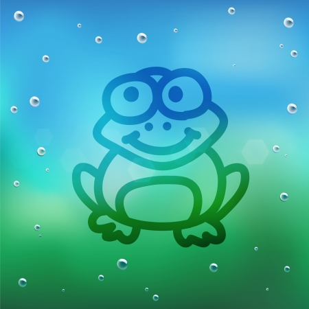 Hand draw cartoon and water drop on glass. Stock Vector - 16987583
