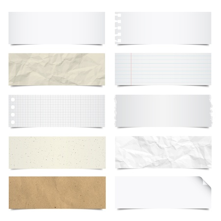 Collection of note papers background , Vector