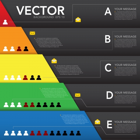 population: Abstract design element, Infographic background.eps10