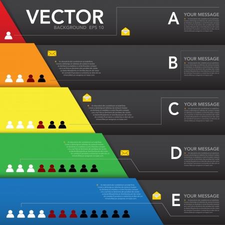 piramide humana: Elemento de diseño abstracto, Infografía background.eps10