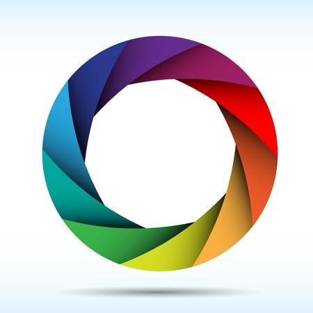 Kleurrijke sluiter van de camera achtergrond, illustratie