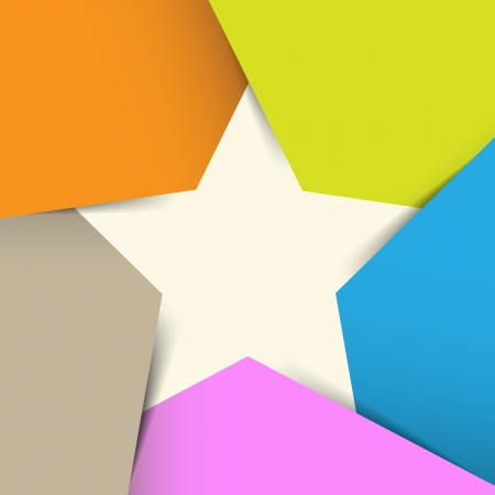 super star: Abstract origami banner background.
