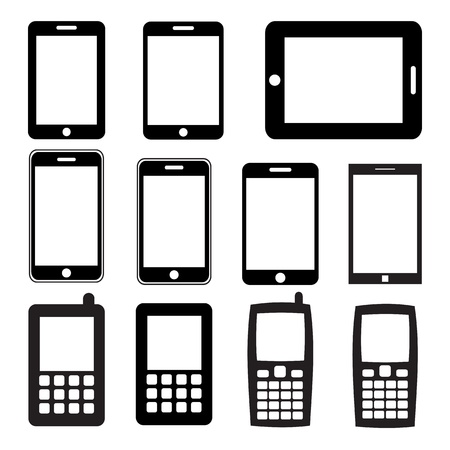 Set of mobile phones and tablets ,Illustration Stock Vector - 17533110