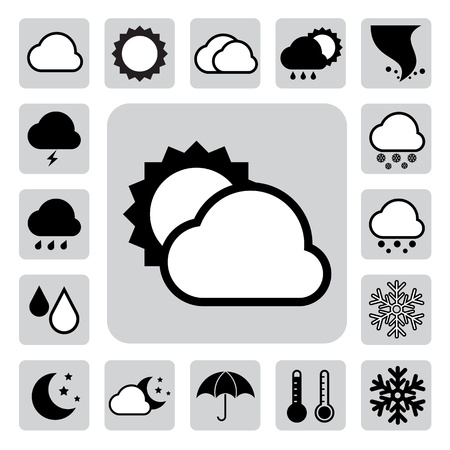 Icon set of weather  Stock Vector - 17659630