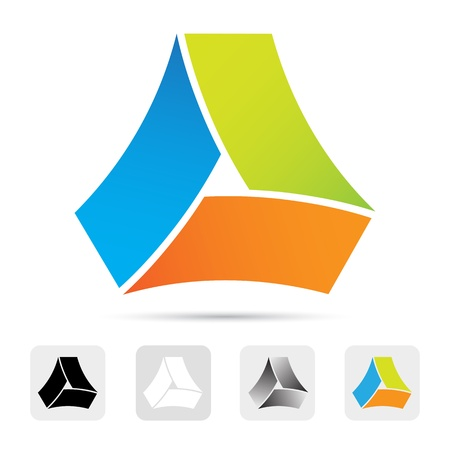 logotipo abstracto: Logo colorido abstracto, elemento de dise�o. Vectores
