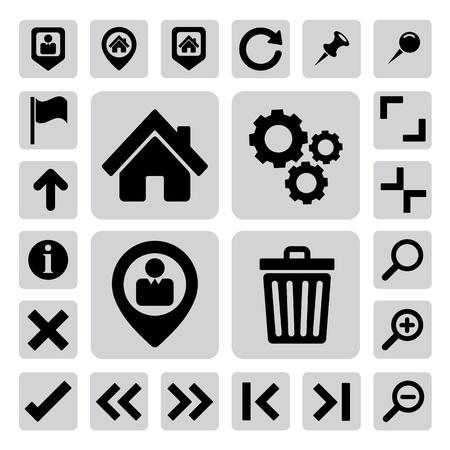 wright: Internet icons set. Illustration
