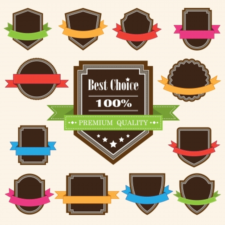 Set of blank retro vintage badges and labels eps10 Stock Vector - 17923729
