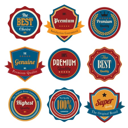 Set of  business vintage badges and labels eps10 Stock Vector - 17997160