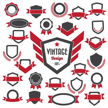 Set of retro vintage badges and labels Stock Vector - 18024362